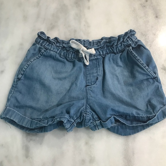 GAP Other - GAP Girls Small Chambray pull on shorts JEAN CUTE